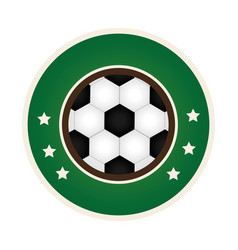 circular border with soccer ball with decorative vector image vector image