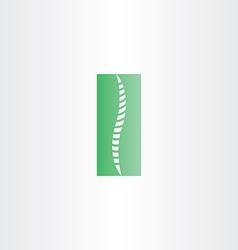 green healthy spine icon vector image