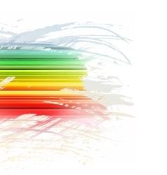 Grunge rainbow brush stroke with stripes on white vector image