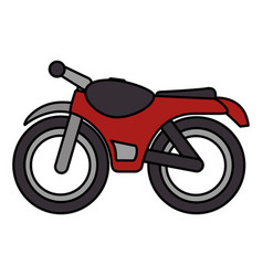 motorcycle vehicle isolated icon vector image