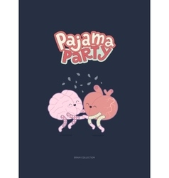 Pajama party poster vector image vector image