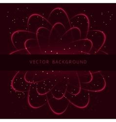 Shining neon cosmic flower vector image