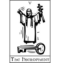 Tarot Card Hierophant vector image