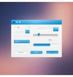 Web site design navigation vector image vector image
