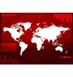 world map technology-style of vector image vector image