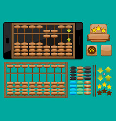 Abacus template for mobile phone vector