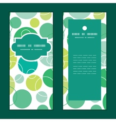 Abstract green circles vertical frame vector