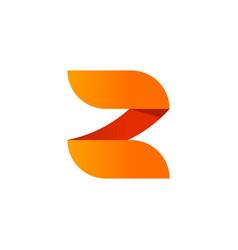 abstract letter z logo element design vector image