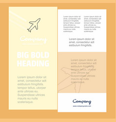 aeroplane business company poster template with vector image