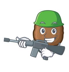 Army meatball character cartoon style vector