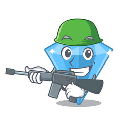 Army sapphire gems isolated in character vector