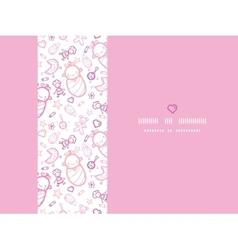 Baby girls horizontal frame seamless pattern vector