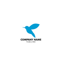 bird abstract logo design design vector image