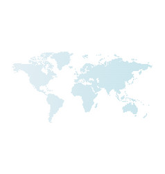 blue dotted world map isolated on white vector image