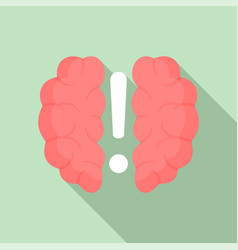 brain solution icon flat style vector image