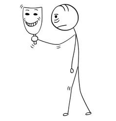Cartoon of sad or tired man or businessman vector