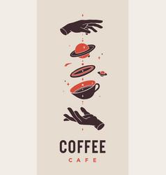 coffee template label logo vector image