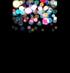 coloftull balls bokeh errect blured circles vector image