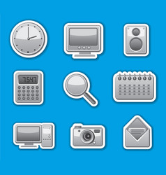 Computer system stickers vector