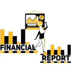 creative word concept financial report and people vector image