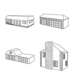 design city and construction symbol set vector image