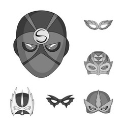 Design of hero and mask symbol set of hero vector