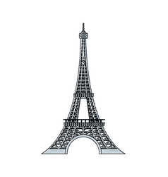 doodle eiffel tower beauty architecture in paris vector image