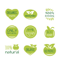 eco food organic bio products eco friendly vector image