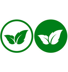 Eco icon with leaf vector