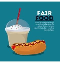 Fair food snack carnival icon vector