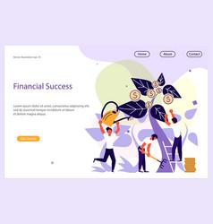 financial success website template vector image