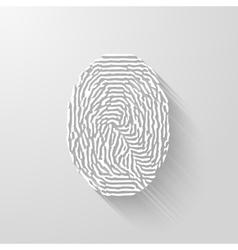 Fingerprint white isolated fingerprint on vector