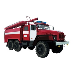 Fire engine vehicle vector