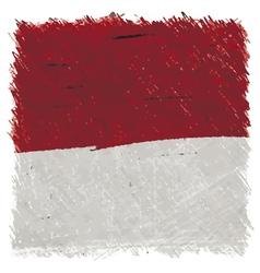 Flag of monaco handmade square shape vector