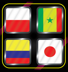 Football championship flags group h vector