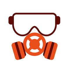 gas mask icon image vector image