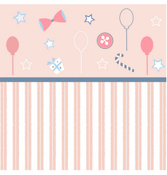 Girlish frame in pink vector