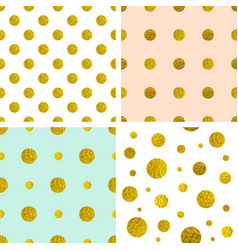 golden polka dot patterns vector image