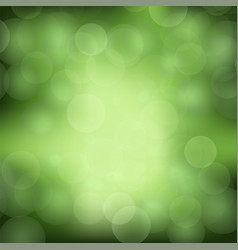 green blurred light background vector image