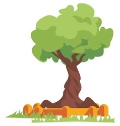 Green tree flat vector