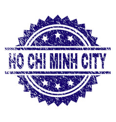 Grunge textured ho chi minh city stamp seal vector