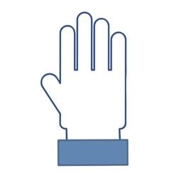 hand blue social media vector image