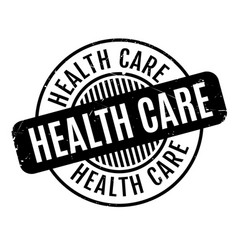 Health care rubber stamp vector
