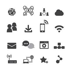 internet icon vector image