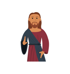 jesus christ sacred religious image vector image