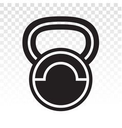 Kettlebell exercise fitness flat icon vector