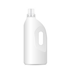 Laundry detergent white plastic bottle vector