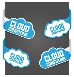 left and right side signs - cloud computing vector image