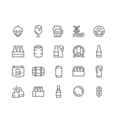 Line Beer Icons vector