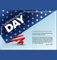 minimalistic independence day poster vector image